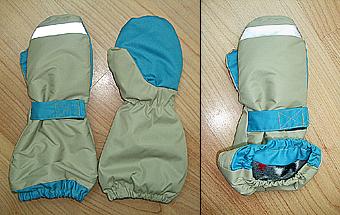 Утепленные варежки-краги для ребенка