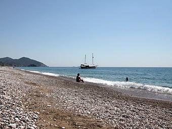 Где в Турции галечные пляжи?