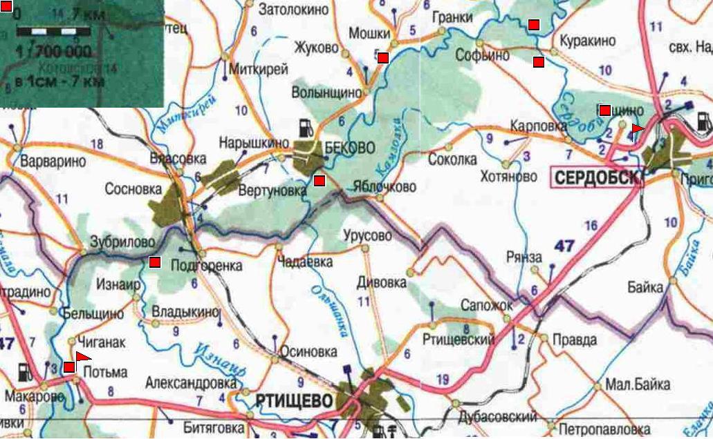 Карта маршрута похода (324 Кб)