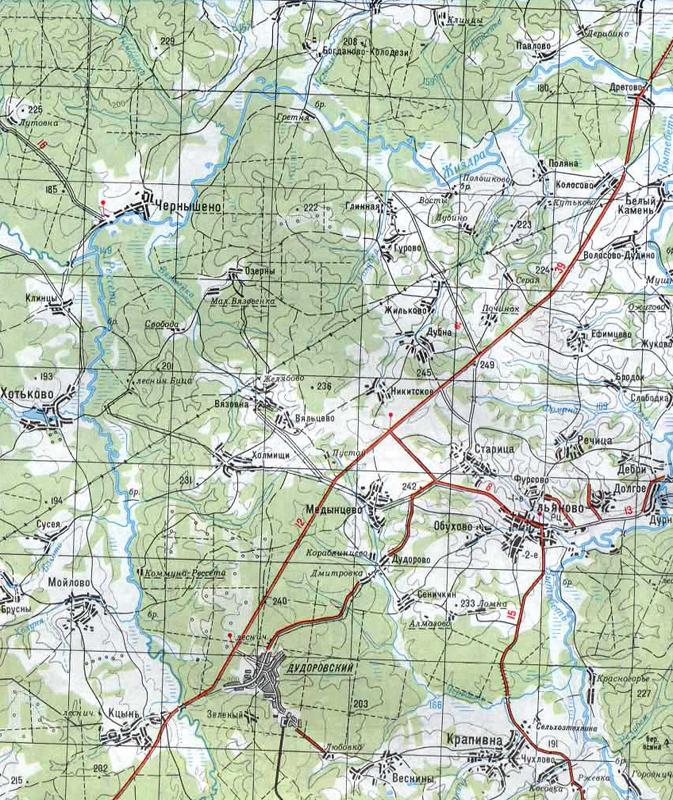 Карта района похода (500 Kb)